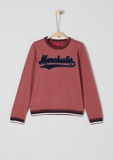 Sweatshirt mit 3D-Wording
