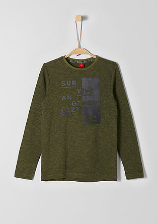 Long sleeve top with artwork lettering from s.Oliver