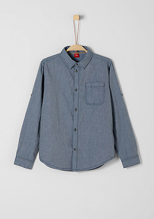 Textured cotton shirt from s.Oliver