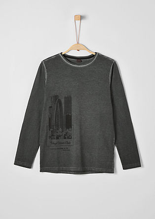 Long sleeve top with city print from s.Oliver