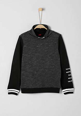 Two-tone sweatshirt from s.Oliver