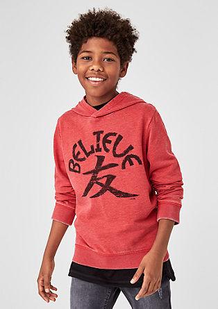 Sweatshirt in een gebleekte look