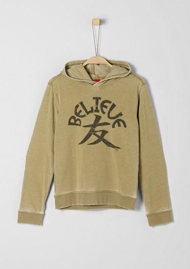 Sweatshirt mit Fade Out-Optik