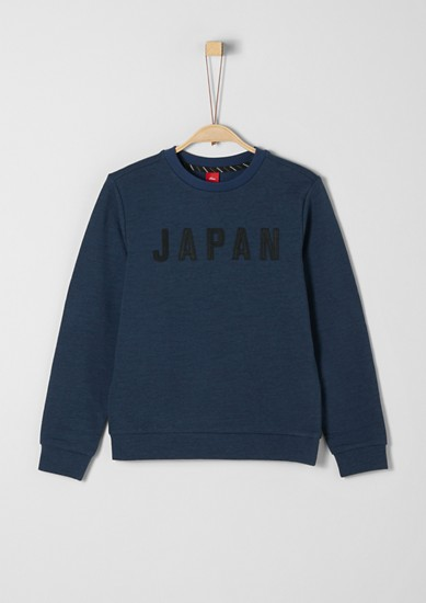 Melange sweatshirt with an appliqué from s.Oliver