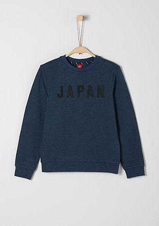 Gemêleerd sweatshirt met applicatie