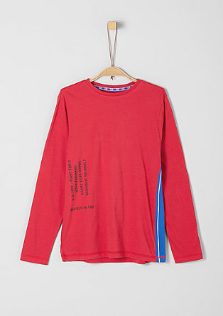 Long sleeve top with stripe detail from s.Oliver