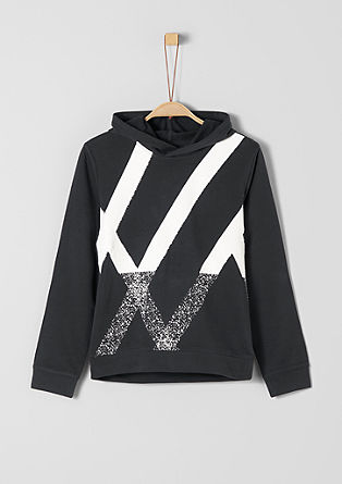 Sweatshirt with a rubberised print from s.Oliver