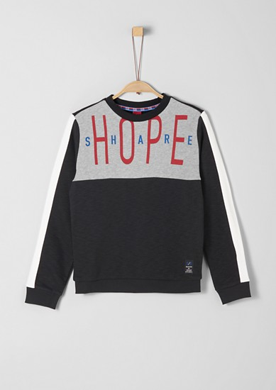 Sweatshirt mit Kontrast-Print