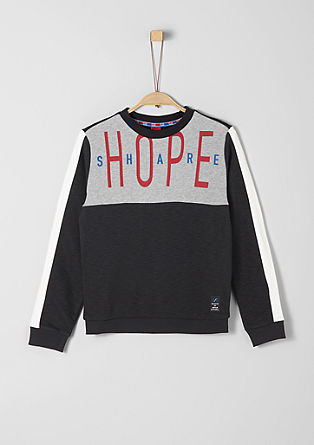 Sweatshirt with a contrast print from s.Oliver