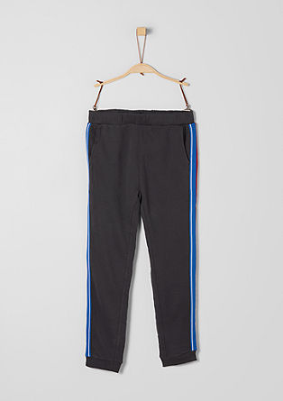 Athleisure trousers with stripes from s.Oliver