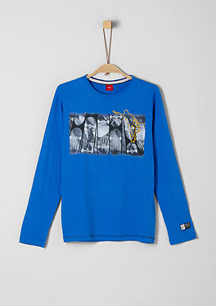 Long sleeve top with skater artwork from s.Oliver