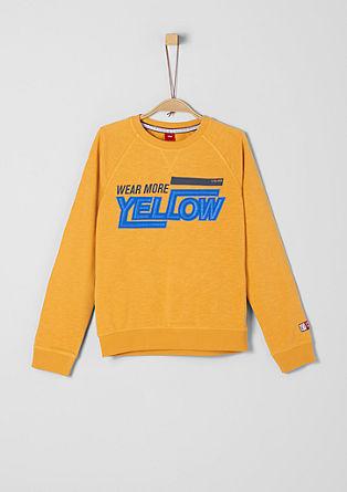 Sweatshirt mit 3D-Schriftzug