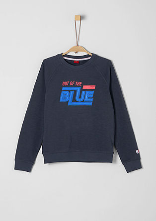 Sweatshirt with 3D lettering from s.Oliver