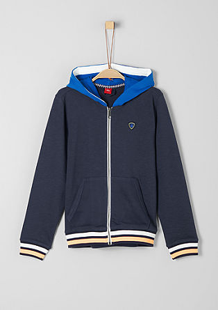 Sweatshirt jacket with colour accents from s.Oliver