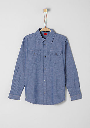 Chambray shirt with a slub effect from s.Oliver