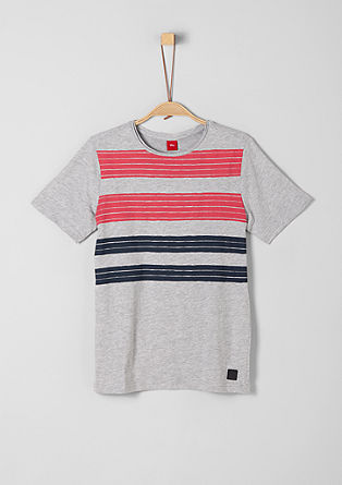 T-shirt with a striped print from s.Oliver
