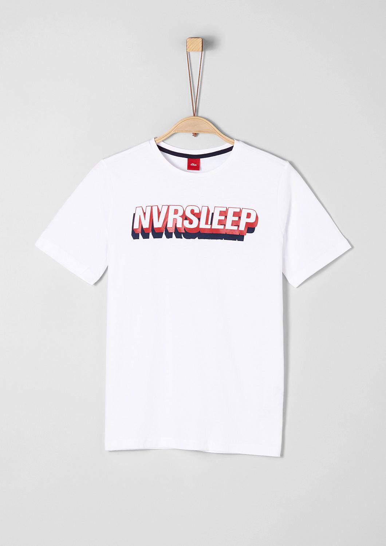 s.Oliver - T-shirt en jersey animé d'une inscription 3D - 1