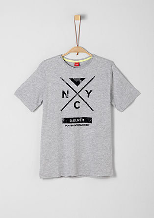 T-Shirt mit Flock-Print