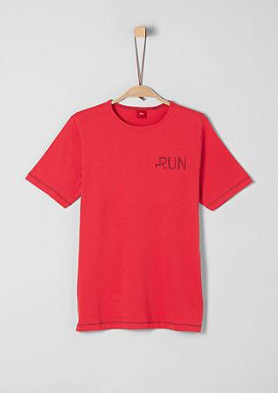 T-Shirt mit farbigen Nähten