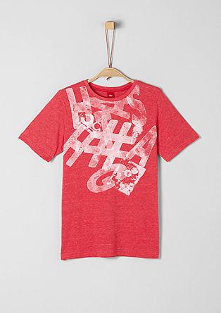 T-shirt met een abstracte print