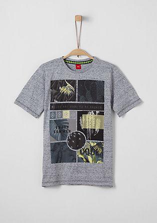 Meliertes T-Shirt mit Artwork