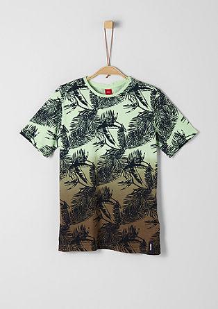 Dip Dye-Shirt mit Allover-Print