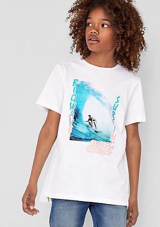 T-Shirt mit Surfer-Print