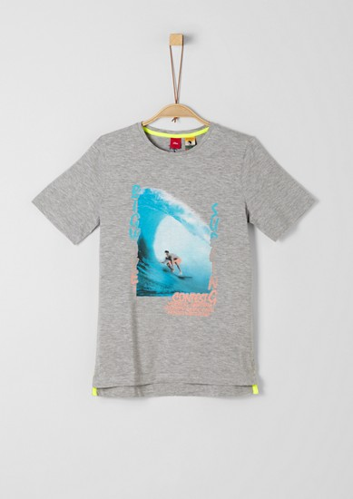 T-shirt with a surfer print from s.Oliver