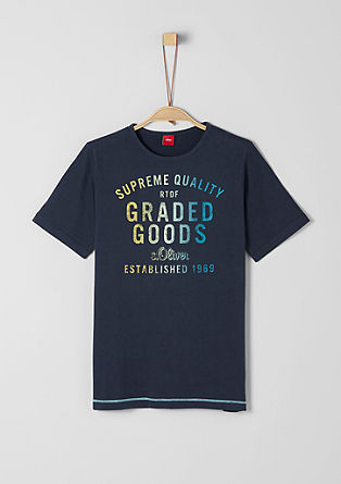 T-shirt with a graduated colour print from s.Oliver