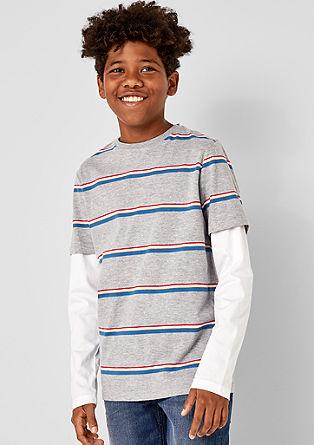 T-shirt à manches longues d'aspect superposé de s.Oliver
