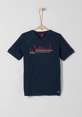 T-Shirt mit Flockprint