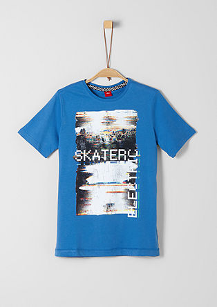 T-Shirt mit Skater-Print
