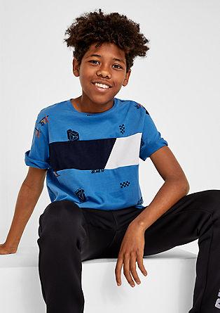 T-Shirt mit Colourblocking