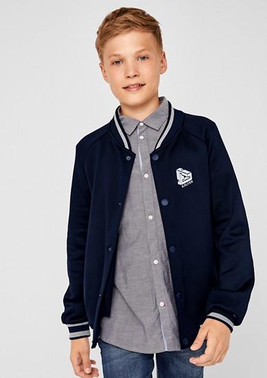 Blouson-Jacke mit Streifenbündchen
