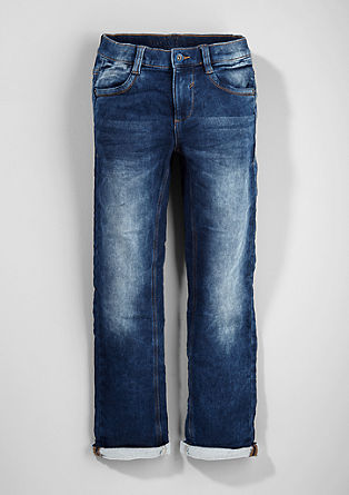 Pete: Sweatshirt jeans with a garment-washed effect from s.Oliver