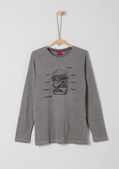 Long sleeve top with a burger print from s.Oliver