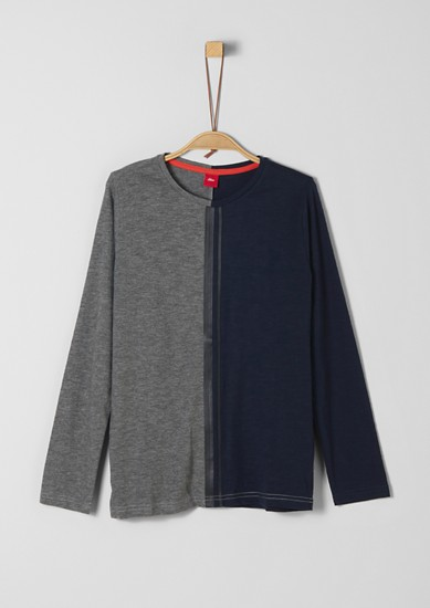 Long sleeve two-tone top from s.Oliver