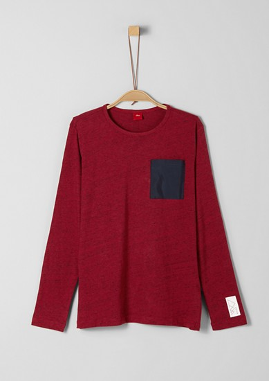 Long sleeve top with a nylon breast pocket from s.Oliver