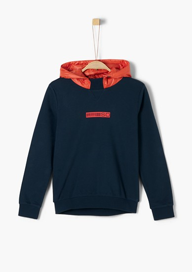 Hoodie with a front print from s.Oliver