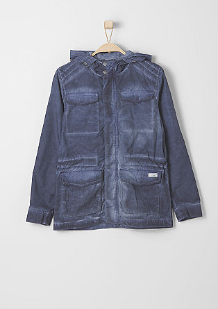 Cotton twill jacket from s.Oliver