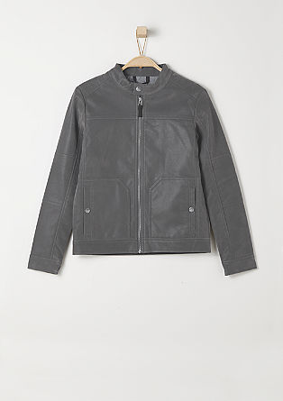 Suede biker jacket from s.Oliver