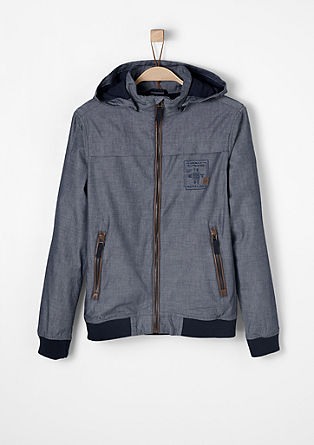 High-performance jacket in chambray from s.Oliver