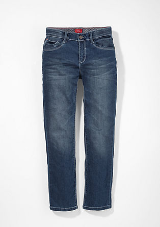 Pete Straight: Jeans with pale seams from s.Oliver