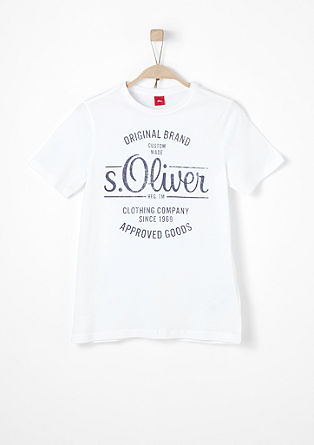 T-shirt with an s.Oliver signature print from s.Oliver