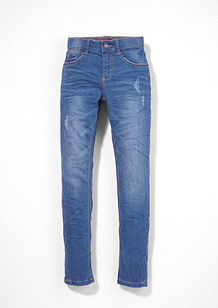 Skinny Seattle: Sprane jeans hlače distressed