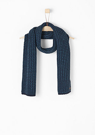 Long rib knit scarf from s.Oliver