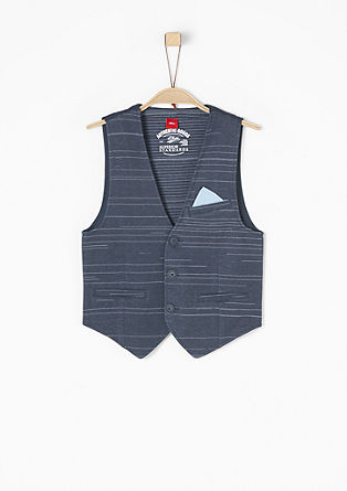 Waistcoat with a fine stripe pattern from s.Oliver