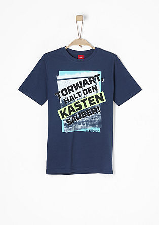 Printshirt mit Neonfarbe