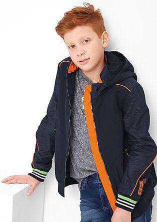 Funktionale Jacke im Fabric-Mix