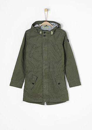 Parka with neon details from s.Oliver